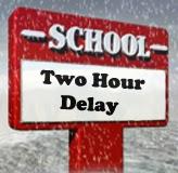 Winter alert EUFSD 2 Hour Delay.