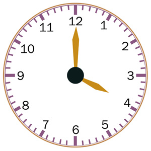 Telling Time Clipart.