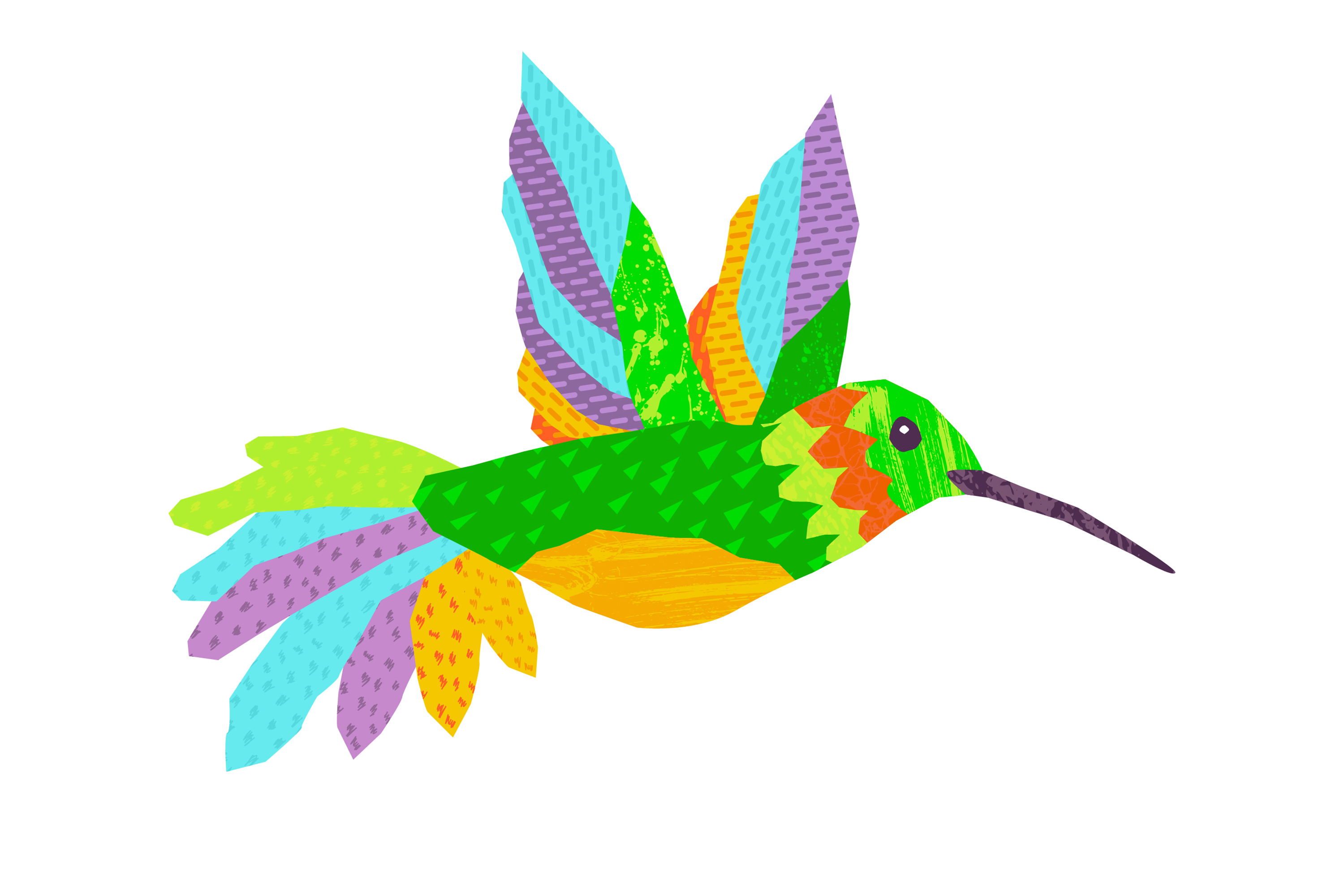Hummingbird Clipart for Instant Download.