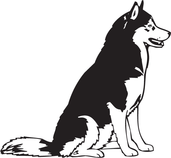 2 husky clipart Transparent pictures on F.