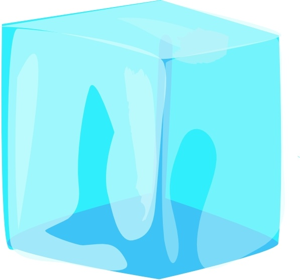 Ice Cube clip art Free vector in Open office drawing svg.