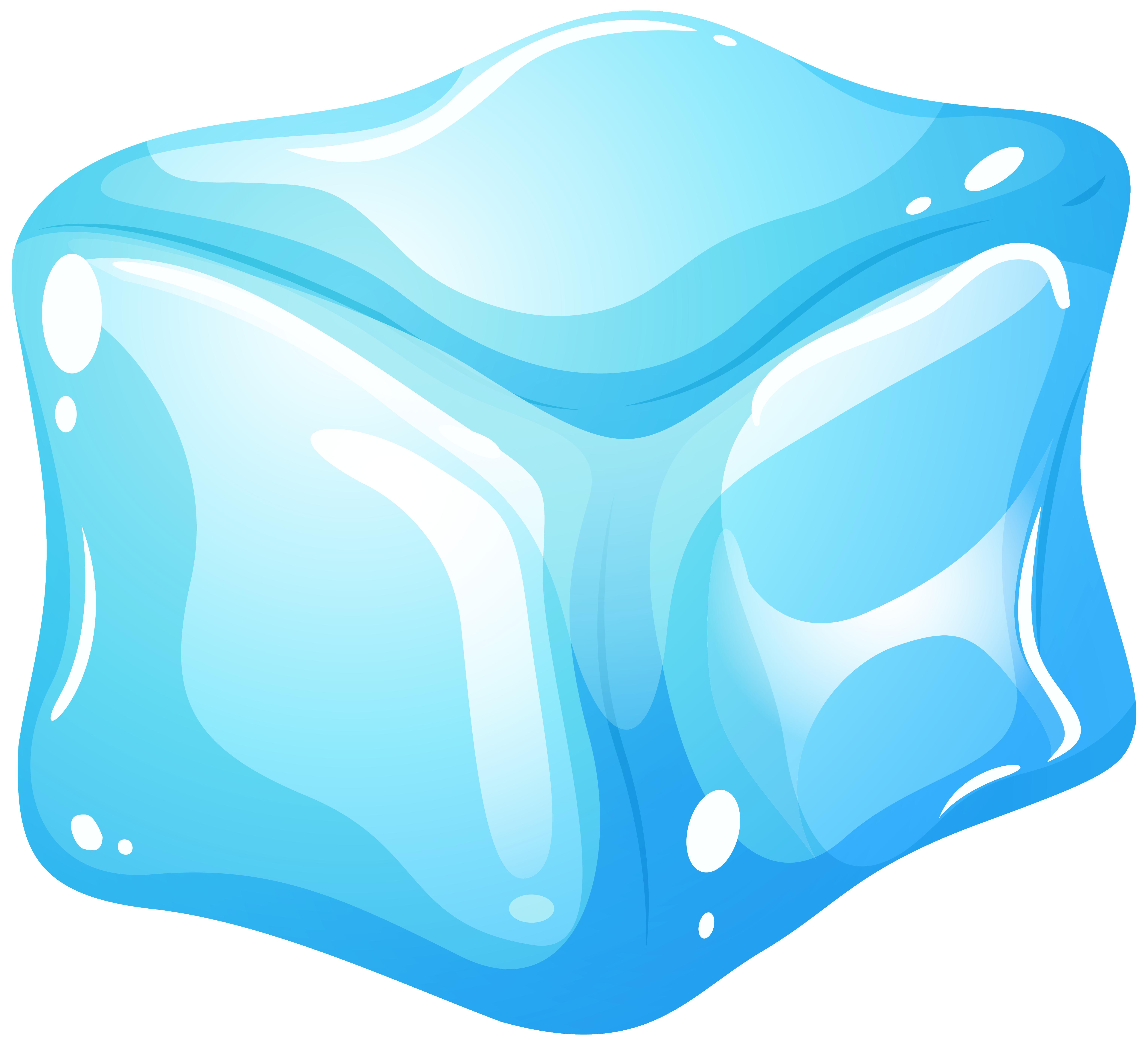 Ice cube blue clip art web clipart 2.
