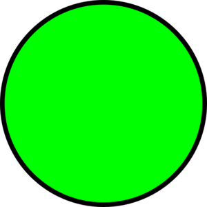 Dark green circle clipart kid 2.