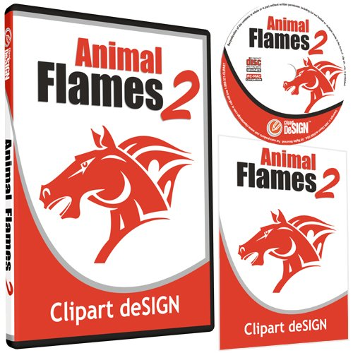 Animal Flames 2 Clipart.