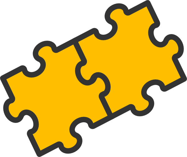 Clipart Puzzle Pieces Together.