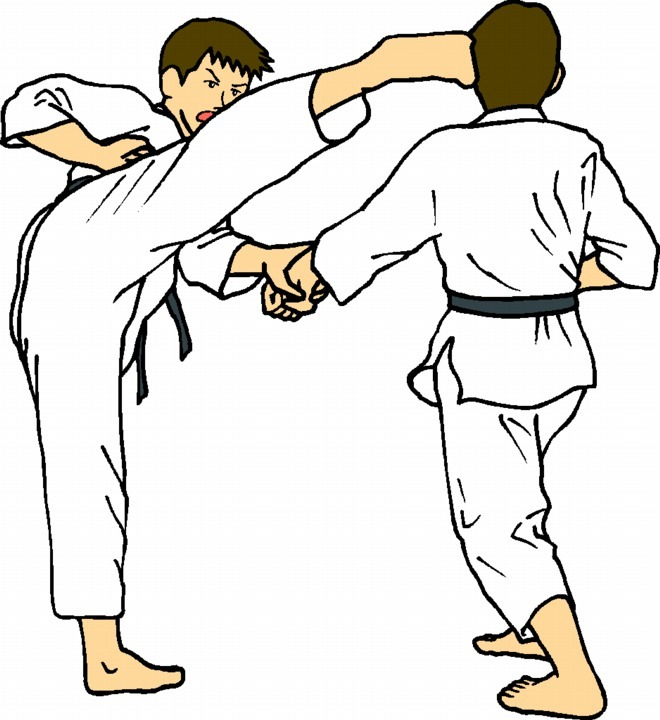 Judo Karate Clipart.