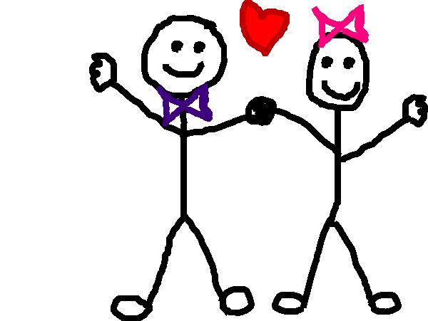 Stick Figure Kids/heart Clip Art at Clker.com.