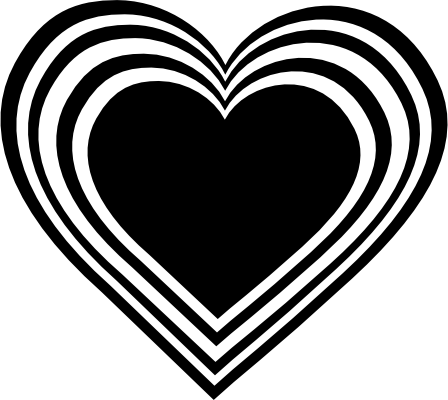 Heart black and white black heart clipart kid 2.