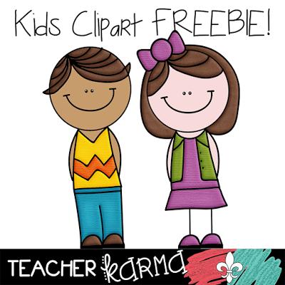 FREE Clipart: 2 Cute Kids.