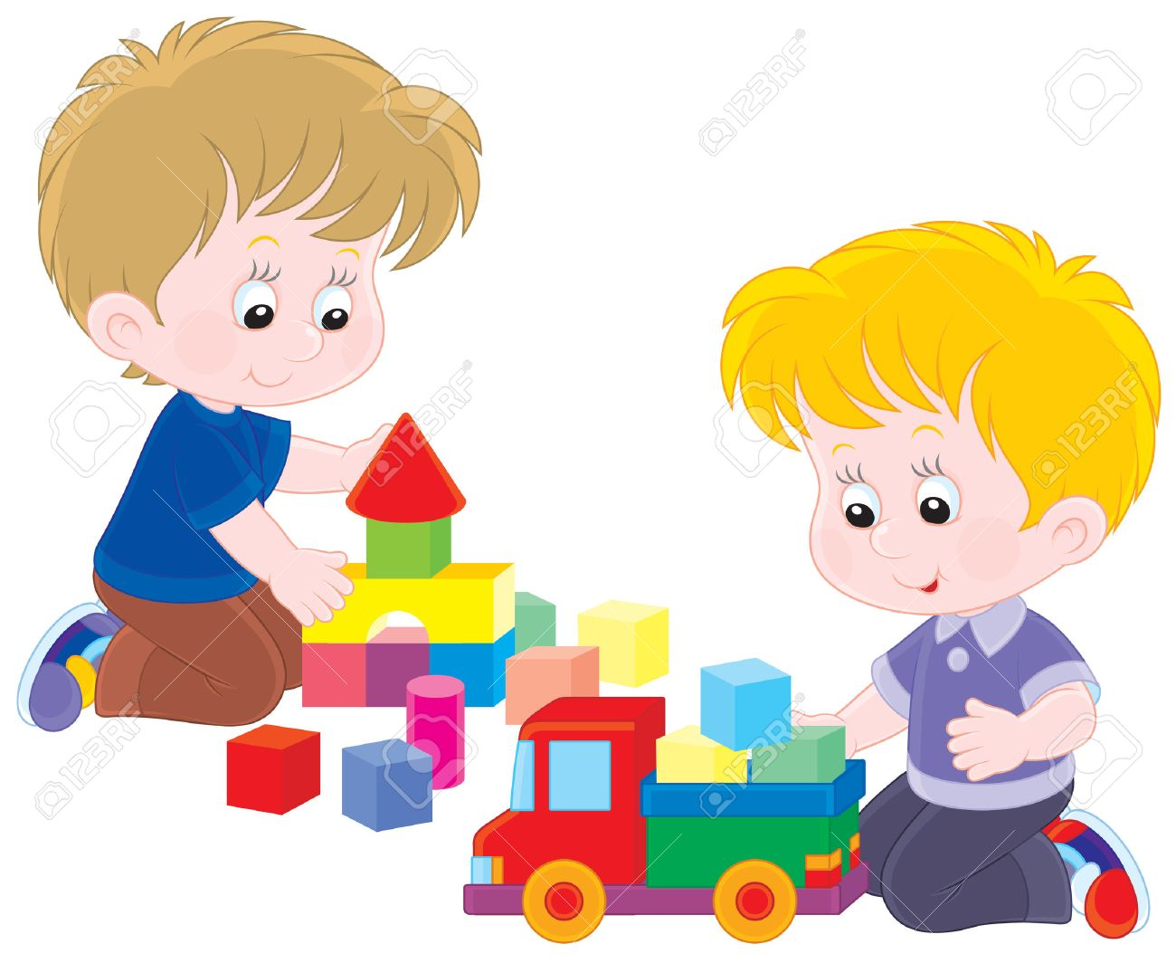 Kids playing with toys clipart 2 » Clipart Station.