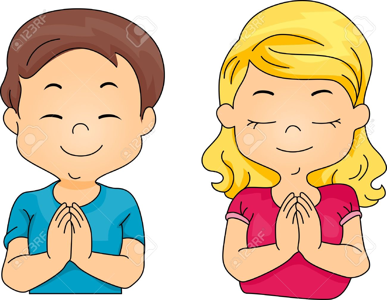 Collection of Pray clipart.