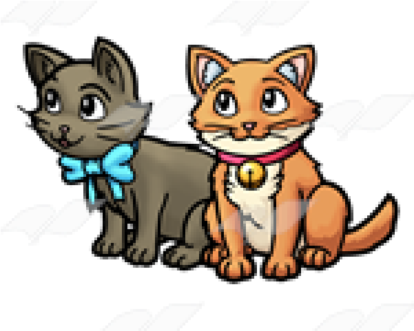 Kitten clipart two, Kitten two Transparent FREE for download.