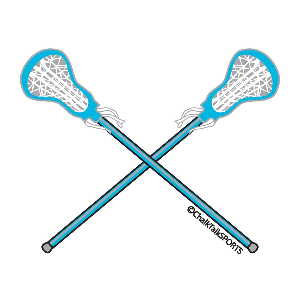 Free vector art lacrosse sticks clipart image 2.