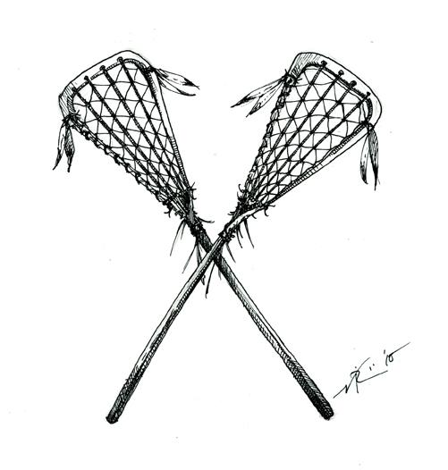 Womens lacrosse sticks clipart image 2.