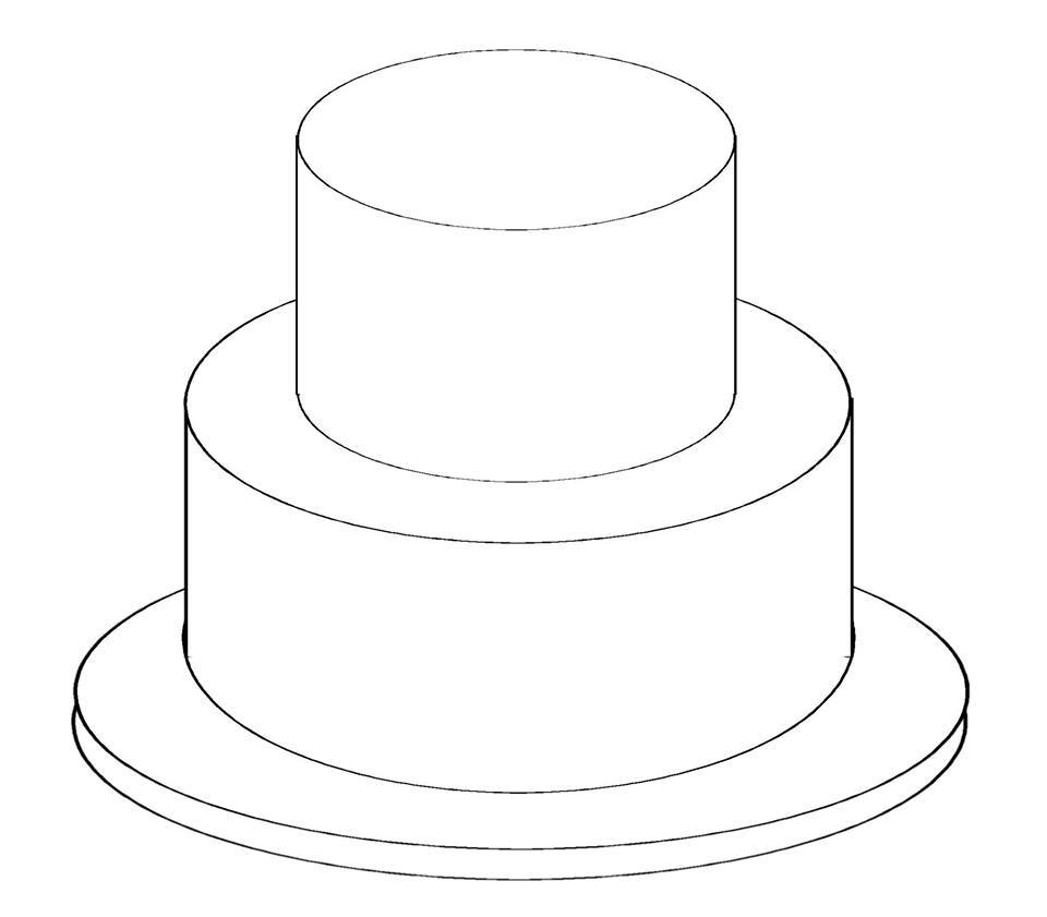 2 Tier Cake Clipart.