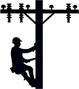 power lineman clip art.