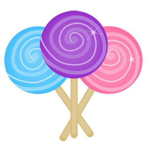 Cartoon lollipop clipart image.