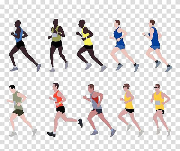 Marathon Running , Running race transparent background PNG.