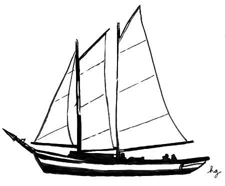 Simple Sailboat Drawing.
