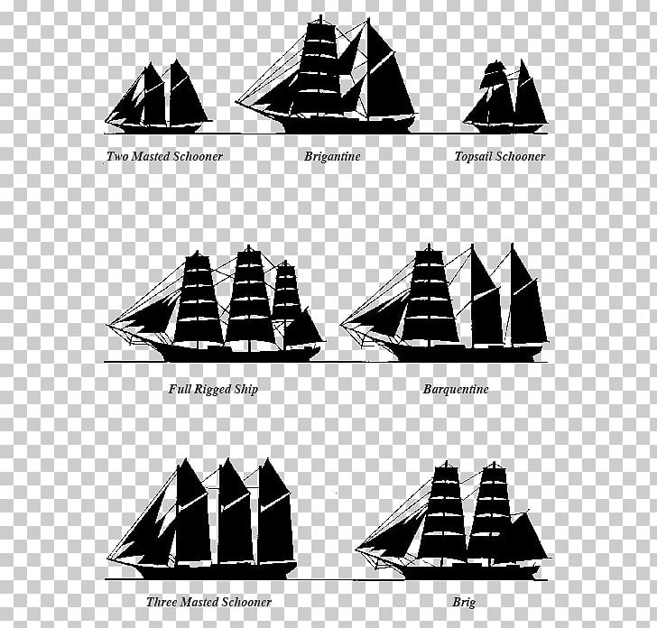 Sailing Ship Mast PNG, Clipart, Angle, Black And White, Cone.
