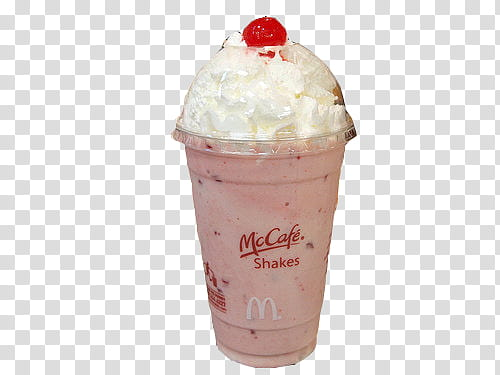 Food , McDonalds McCafe Shakes transparent background PNG.