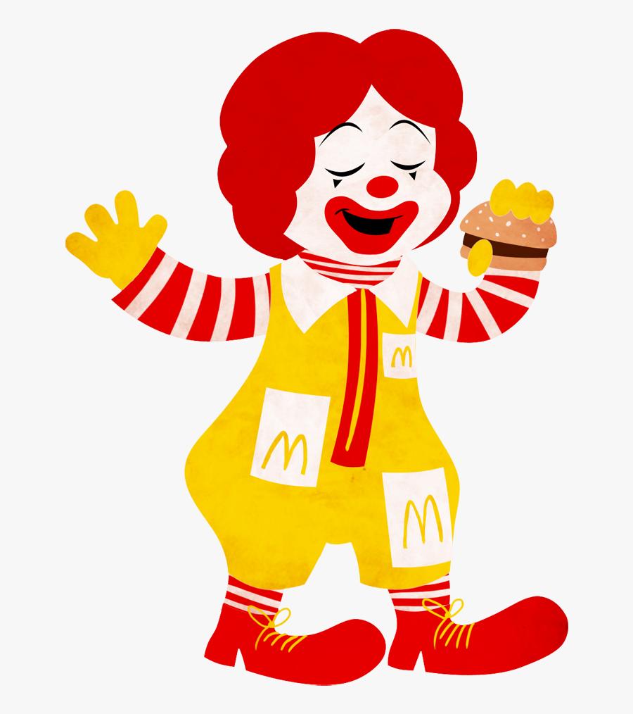 Transparent Ronald Mcdonald Face Png.