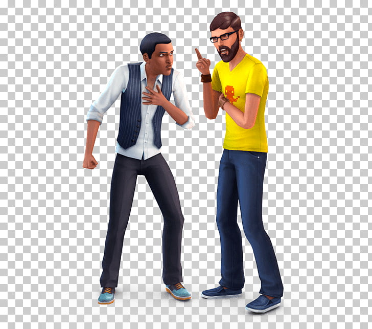 The Sims Guys Arguing, two men arguing 3D characters PNG.