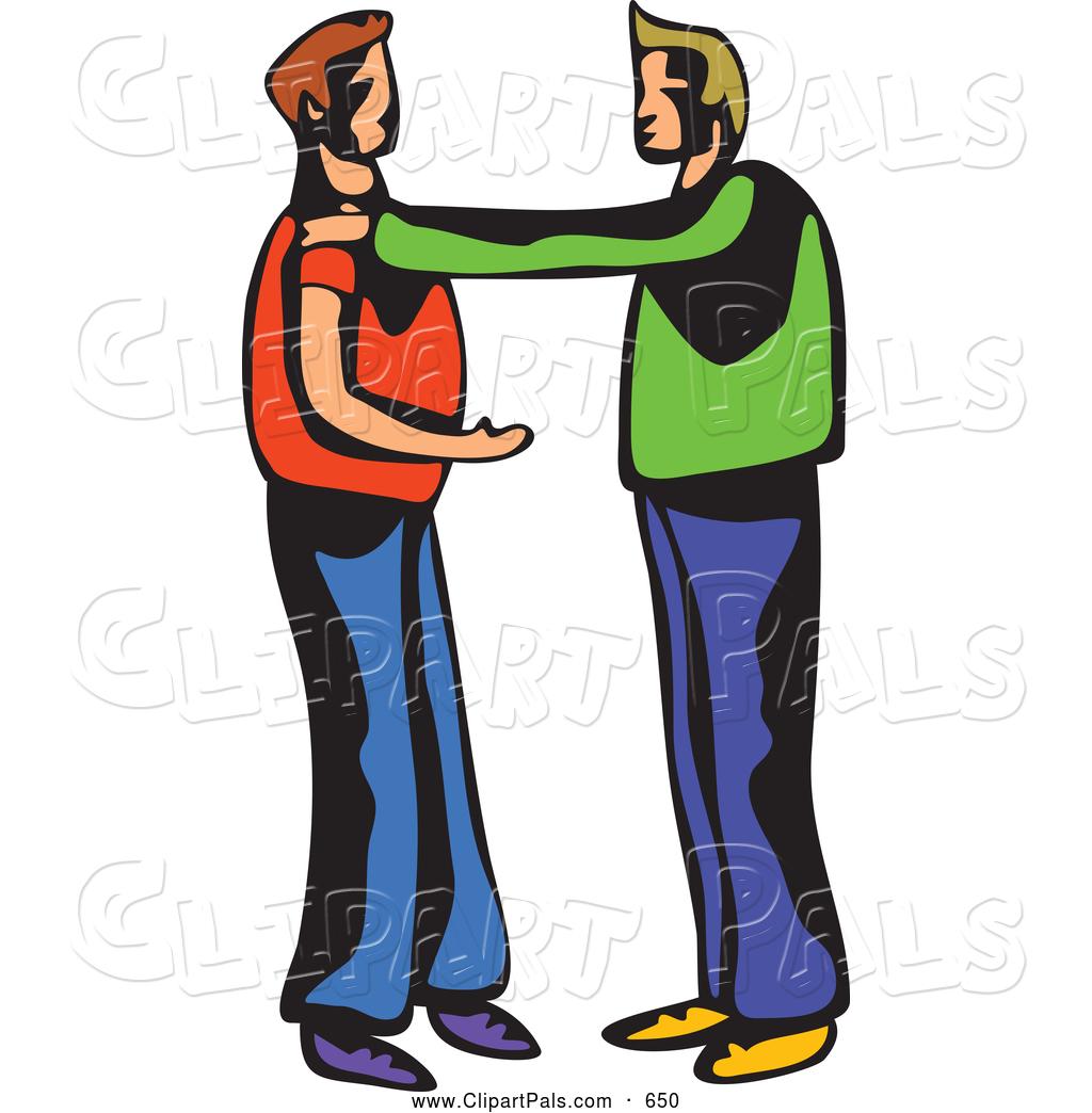 Two Men Talking Clipart.