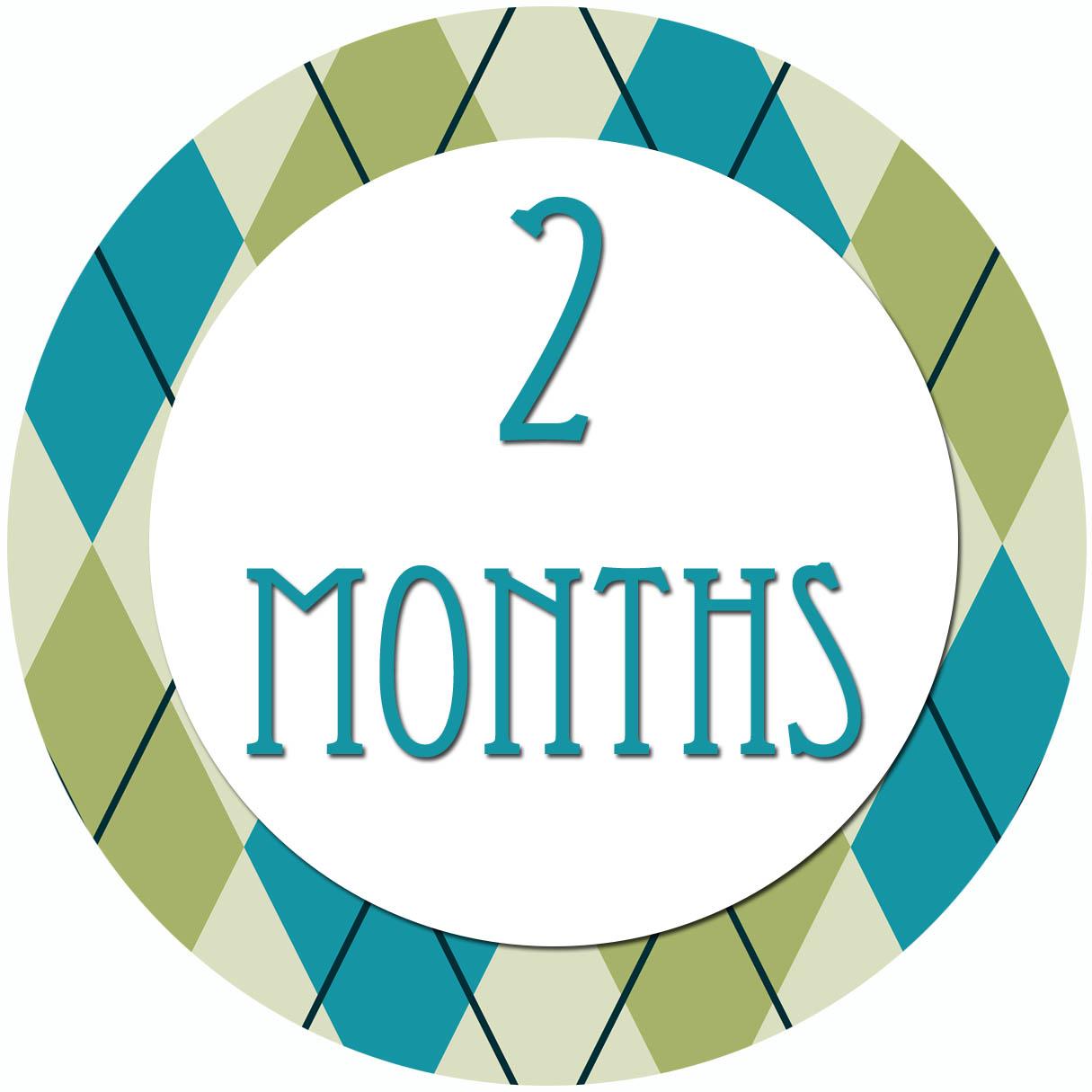 2 Months Clipart.