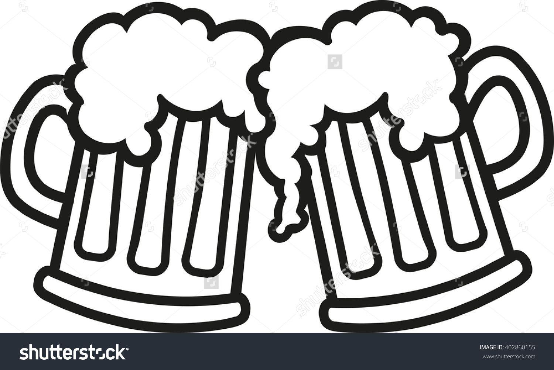Image result for 2 beer glasses clip art.