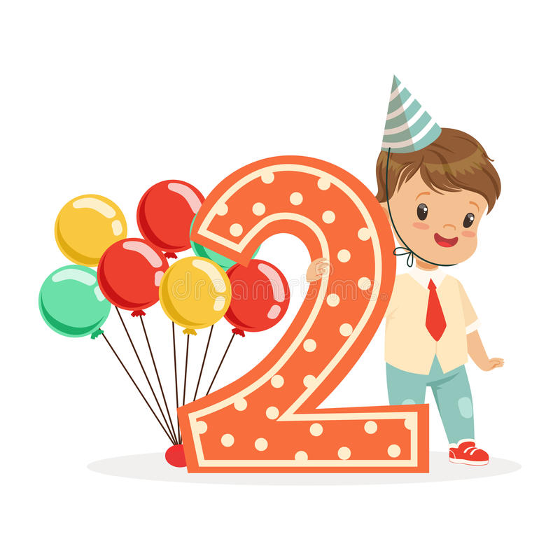 2nd Birthday Boy Clipart.