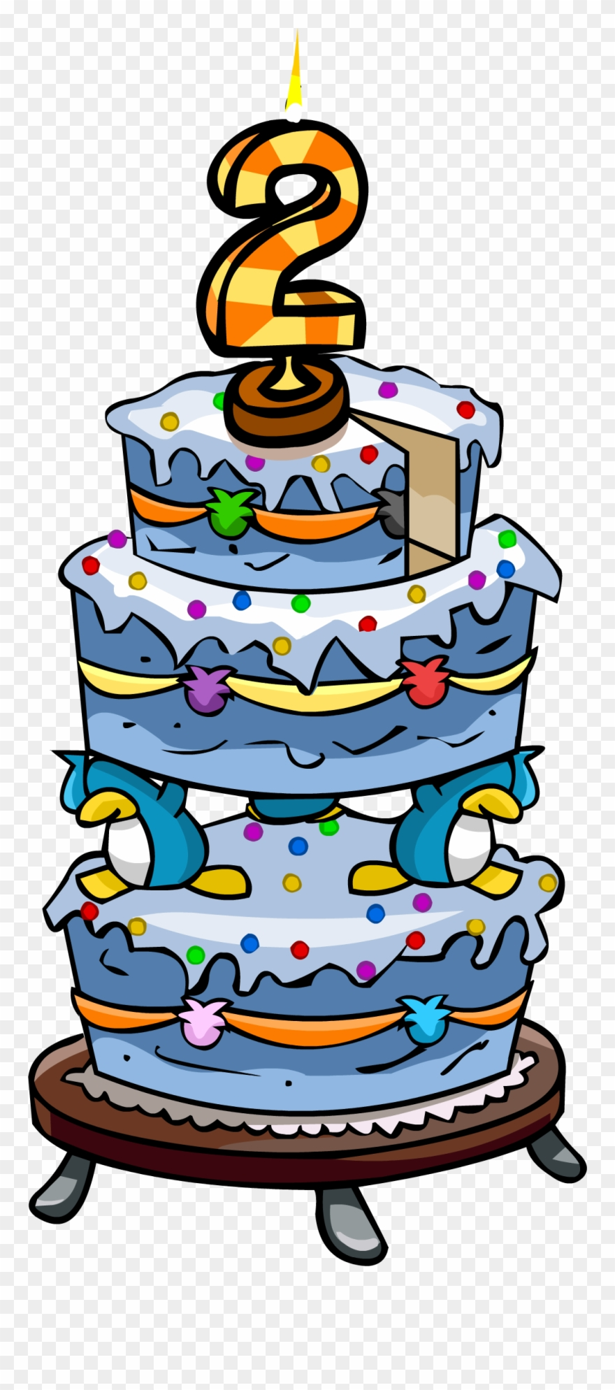 2nd Birthday Cake Png Clipart (#1212142).