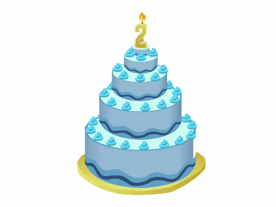 Blue Birthday Cake Transparent Png Clipart Free Download.