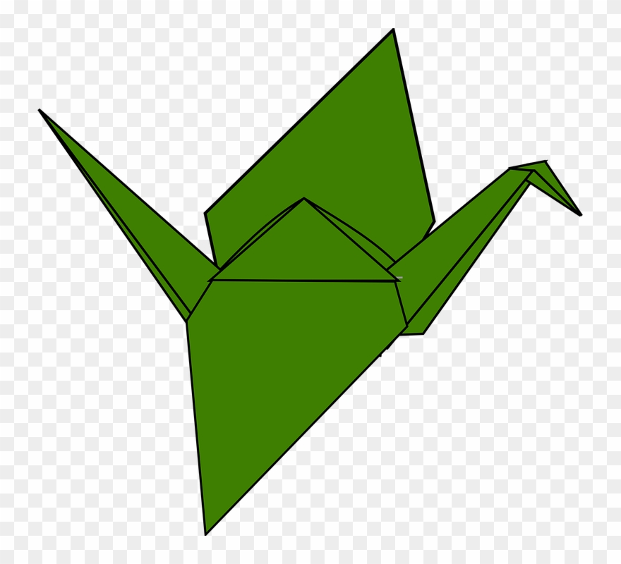 Japanese Crane Clipart Origami.