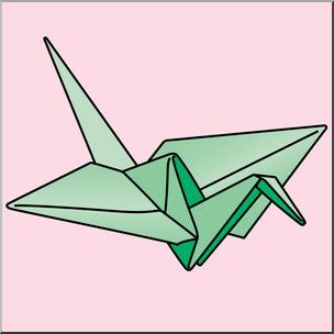 Clip Art: Origami Crane Color 2 I abcteach.com.