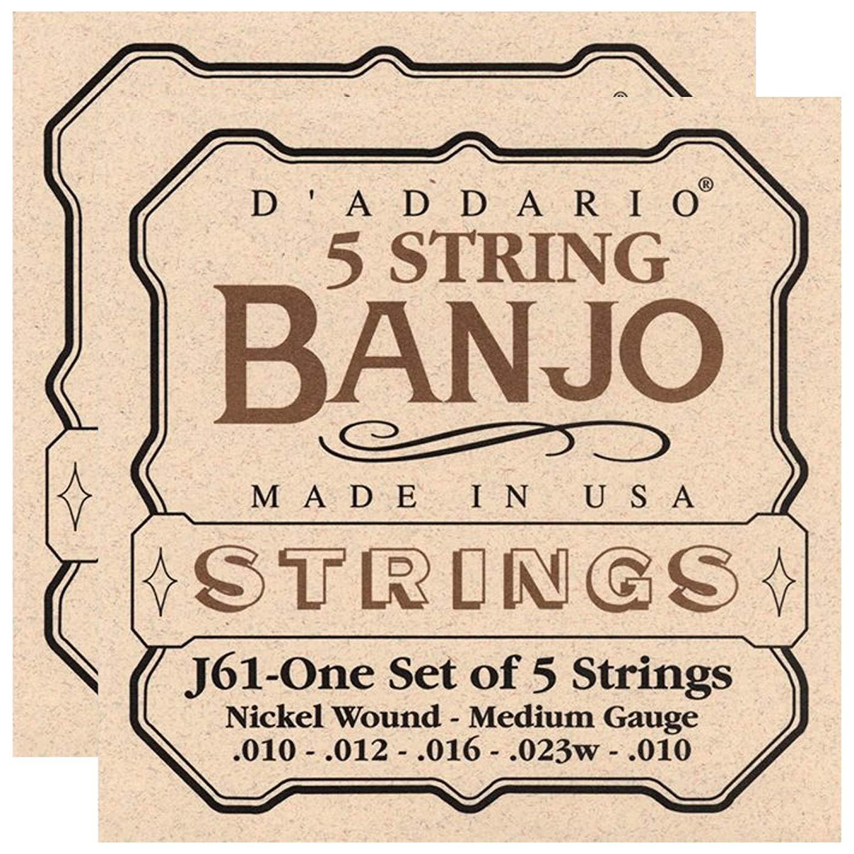 Amazon.com: D\'Addario J61 Banjo Nickel Wound 10.