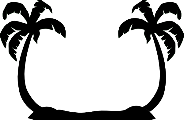 2 Palm Trees Clip Art.