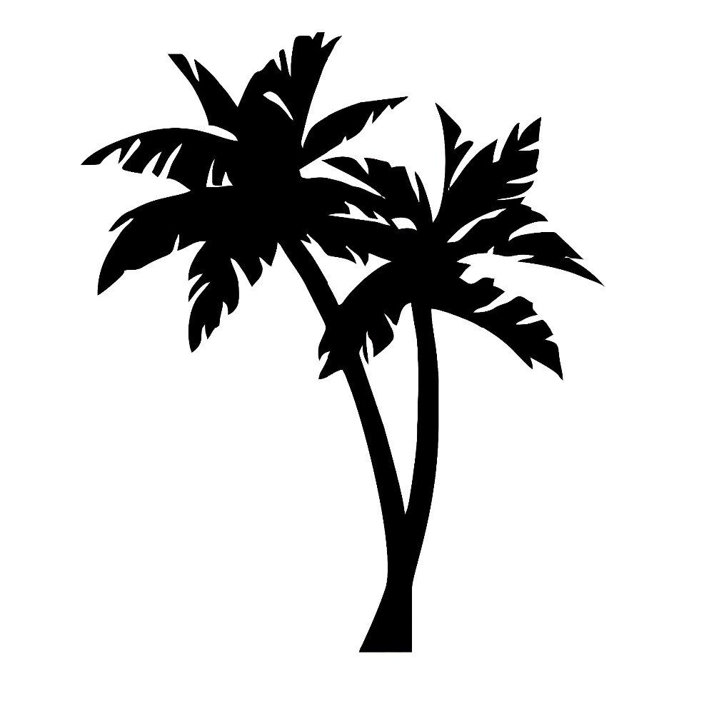 Palm Tree Vinyl Decal Tropical Decals Vinyl Car Stickers Art.