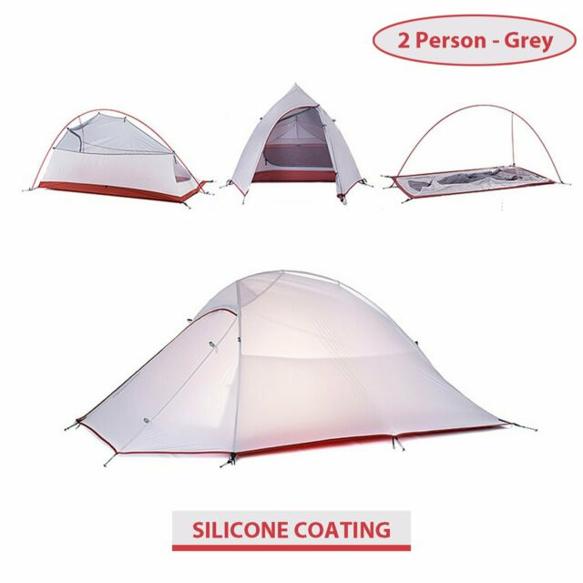 Waterproof Ultralight Backpacking Tent 20D Silicone Coated Camping Tent.