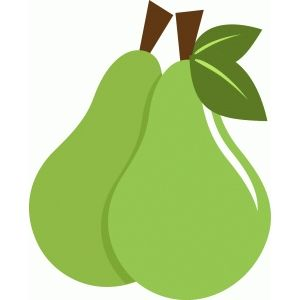 Silhouette Design Store: two green pears.