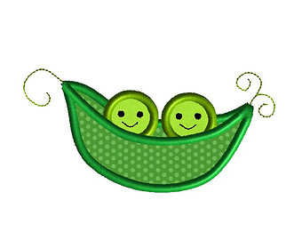 2 peas in a pod clipart.