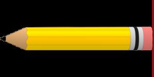 Yellow #2 Pencil clip art.