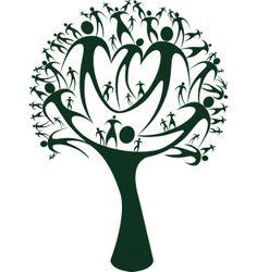 2593 Family Tree free clipart.