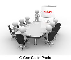 3d people business meeting conference agenda table Illustrations.