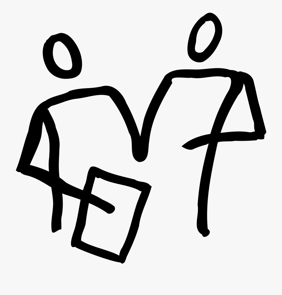 2 People Looking At A Clipboard Clip Arts.