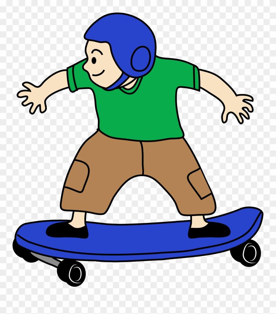 Skateboarding Boy Clip Art Free.