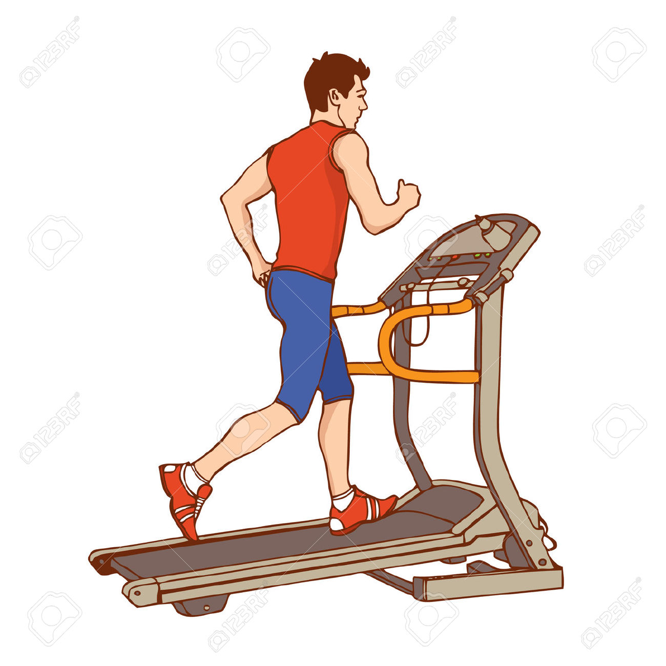 Free Exercising Treadmill Cliparts, Download Free Clip Art.