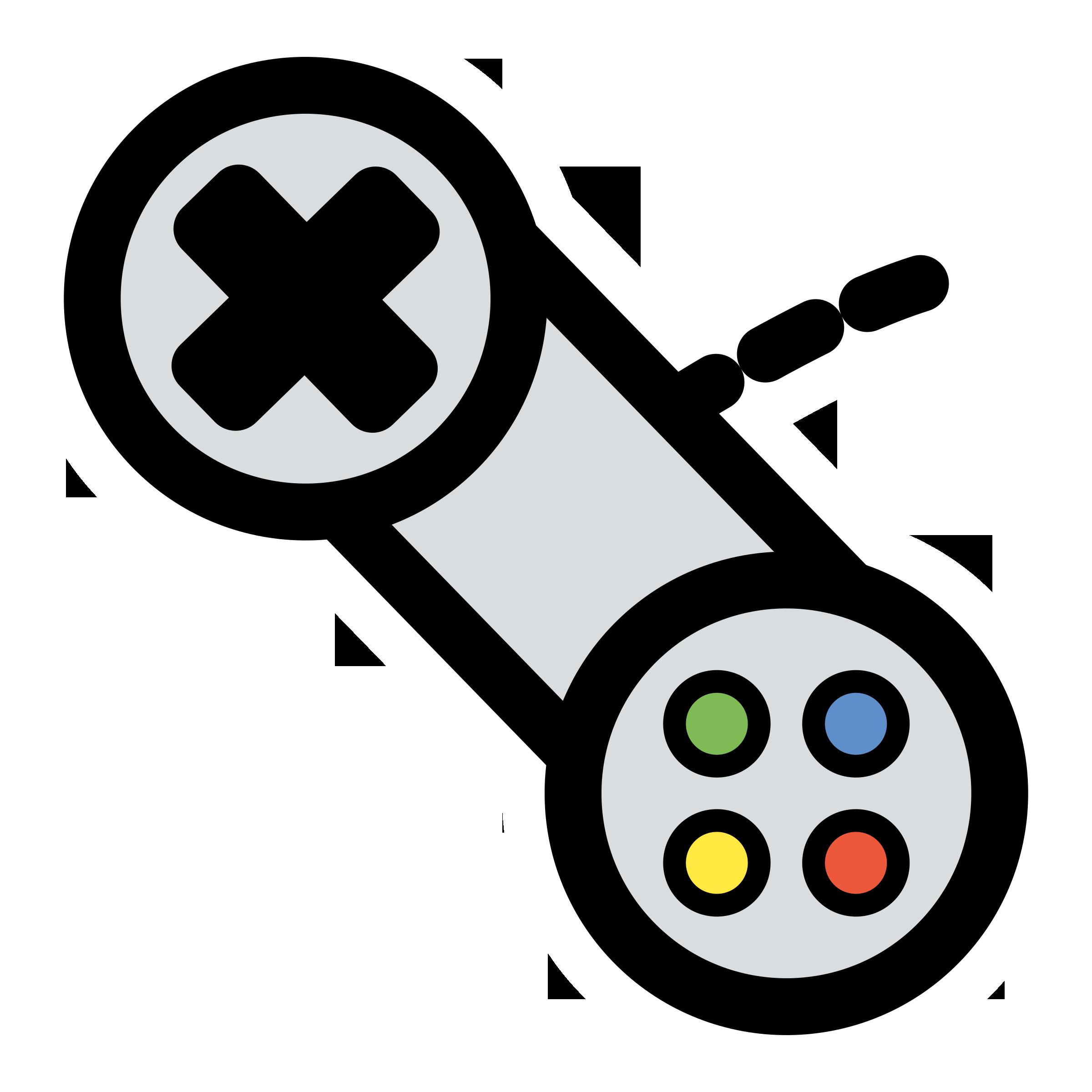 Xbox 360 controller Game controller Video game Clip art.