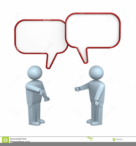 Two People Talking To Each Other Clipart.