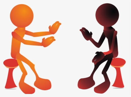 Free Two People Talking Clip Art with No Background.